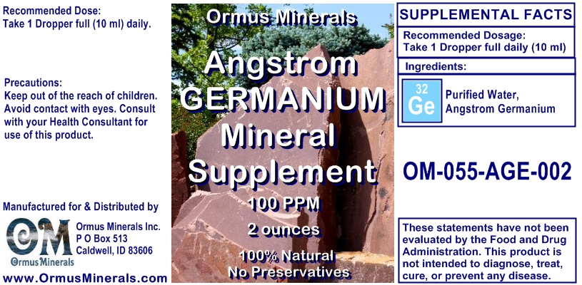 Angstrom Germanium Mineral Support 2 ounces